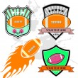 Vector set : design of american football — Stock Vector