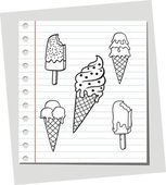 Ice cream vector illustration — Stock Vector