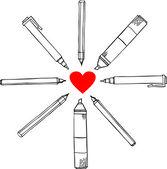 鉛筆落書きベクトル — ストックベクタ
