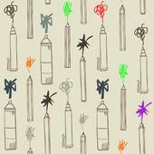 Pen art seamless — Stock Vector