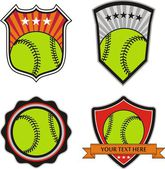 Set vector : Vintage Baseball Labels and Icons — Wektor stockowy