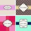 Vintage Labels set. Place your text on shield.  — Stock Vector