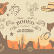 Cowboy. Wild West Western Elements, vector illustration  — 图库矢量图片