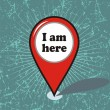 I am here vector design — Stock Vector #36829135