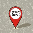 You are here vector design — Stock Vector