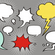 A collection of comic style speech bubbles. Vector illustration.  — Stock Vector