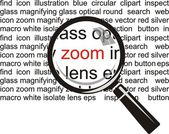 Zoom. Magnifying glass on background — Stock Vector