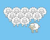 Cute Sheep Vector Illustration — Stockvektor