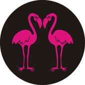Pink flamingo - vector illustration — Stock Vector