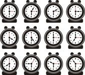 Set clock icons , signs, vector illustration — Stock Vector