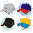 Stock Vector: Vector baseball cap