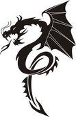 Dragon Vector Illustration — Stock Vector