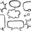 A collection of comic speech bubbles. doodle art style — Stock Vector
