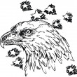 Eagle - sketch vector illustration isolated — Stock Vector #39887599