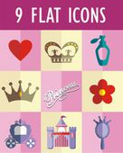 Princess flat icon — Stock Vector