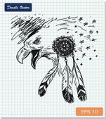 Sketch of eagle — Stock Vector
