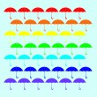 Rainbow umbrella — Stock Vector