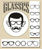 Change your glasses — Stock Vector