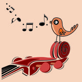 Classic music — Stock Vector