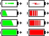 Os indicadores de nível de carga da bateria — Vetorial Stock