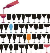 葡萄酒杯 pab — 图库矢量图片