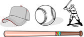 Baseball equipment — Stockvector