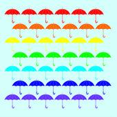 Parapluie Rainbow — Vecteur