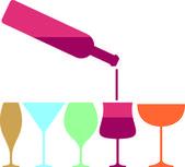 Wine glass pab — Stock Vector