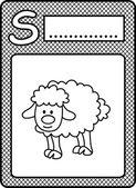 Alphabet animals S — Vector de stock