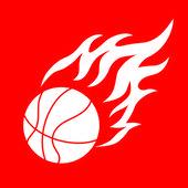Basketballball and flame — Stock Vector