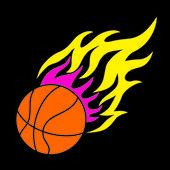 Basketballball と炎 — ストックベクタ