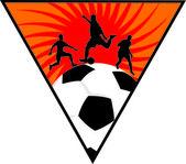 Voetbal — Stockvector