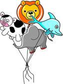 Cow balloon — Stock vektor