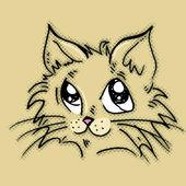 Cat,kitten — Stock Vector