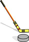 Hockey apparel — Vector de stock
