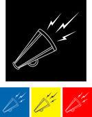 Bullhorn symbol — Stock Vector
