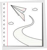纸飞机云 — 图库矢量图片