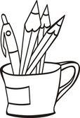 Pen cup — Stock Vector