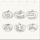 Scary halloween pumpkin. — Stock Vector