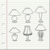 Decorative lamp — Vector de stock