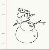 Snowman with hat — Stock Vector