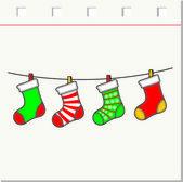 Christmas stockings set — Vector de stock