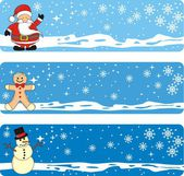 Holidays Banner Set — Stock Vector