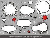Comics speech bubbles — Stock Vector