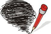 Pencil doodle — Stock Vector
