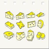 Cheese set — Stock Vector