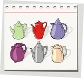 Teapots set — Stock Vector