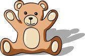 Toy teddy bear — Stock Vector