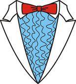 Tuxedo with bow tie — Stock Vector
