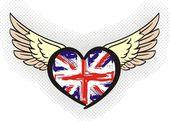 Engelse vlag — Stockvector